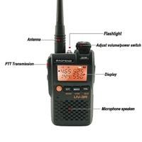 מכשיר הקשר 2pcs מקורי Baofeng UV3R מיני מכשיר הקשר 2W 3.7V UHF & VHF נייד UV3R Dual Band Hf BF 3R משדר Poste CB רדיו טווח (2)
