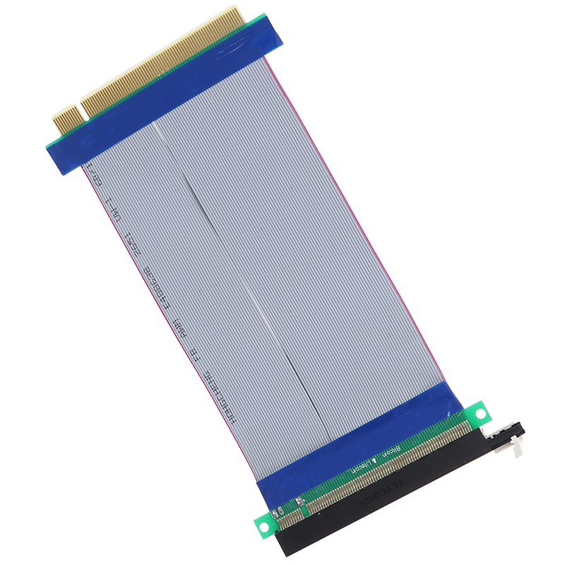 16X Riser Extender Card Adapter Flexible Cable PCI Express PCI E 16X Riser Card Ribbon Extender Extension 18cm Cable