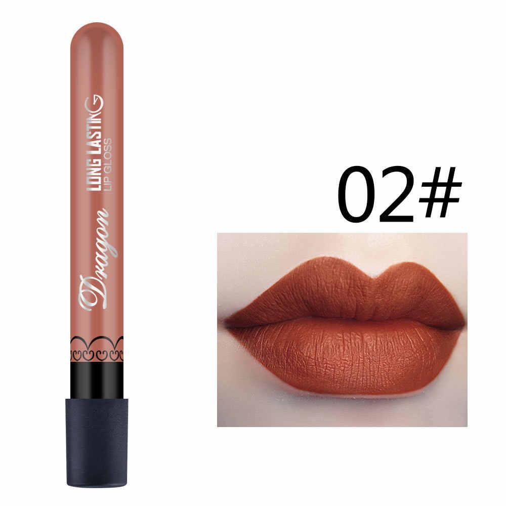 2020 סקסי עמיד למים עירום מט קטיפה מבריק גלוס שפתון שפתון סקסי אדום שפתיים גוון 28 צבעים נשים אופנה איפור מתנה