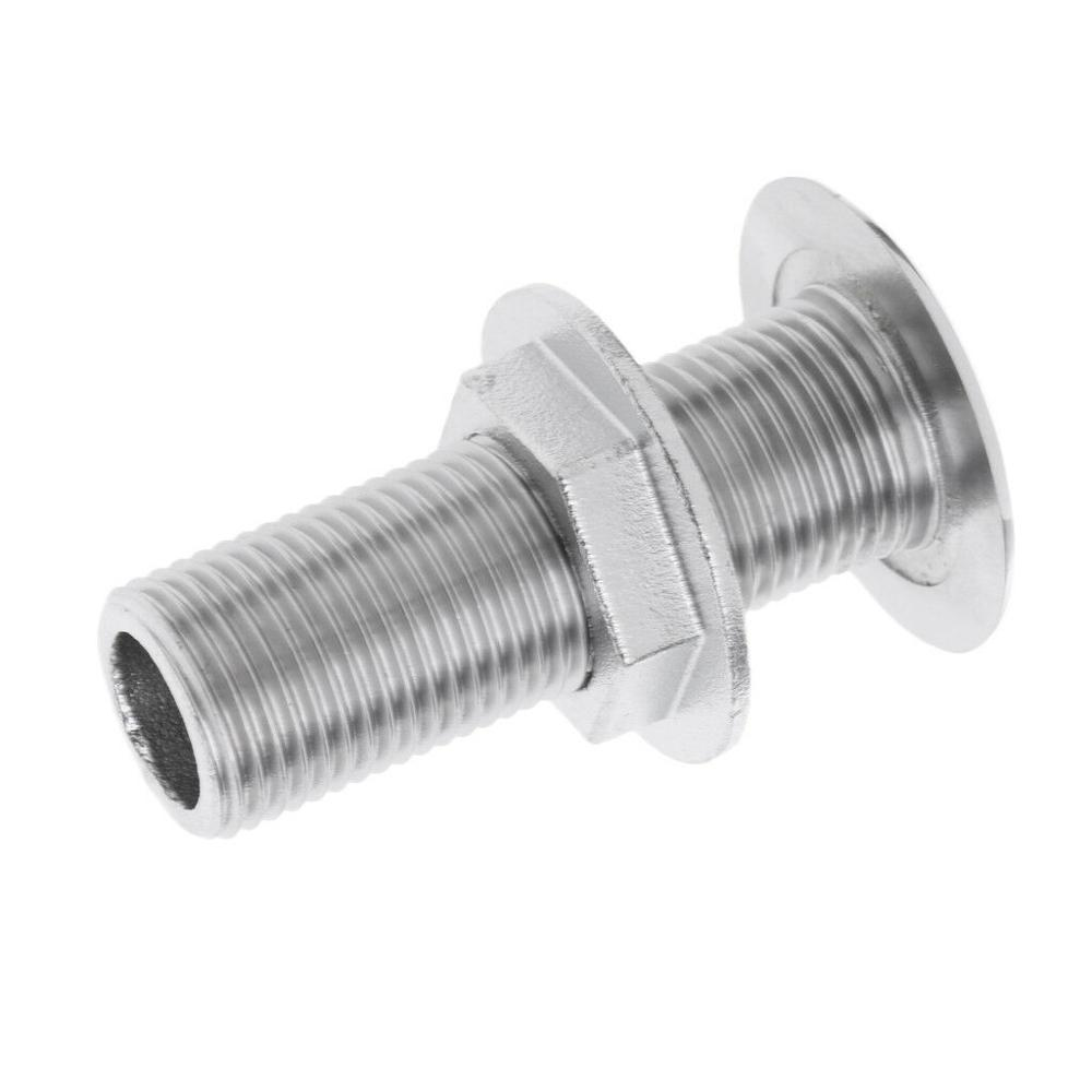 "1/"" Threaded Stainless Steel Marine Thru Hull Fitting Boat Intake Strainer"