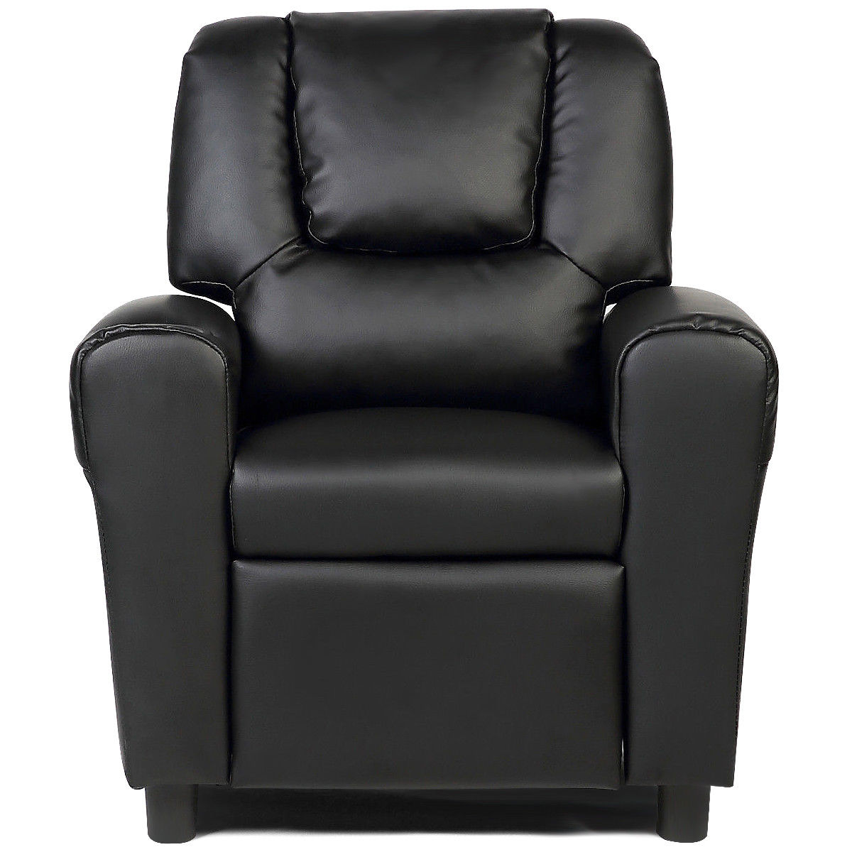 Costway Kids Recliner Armchair Children's Furniture Sofa Seat Couch Chair W/Cup Holder Black