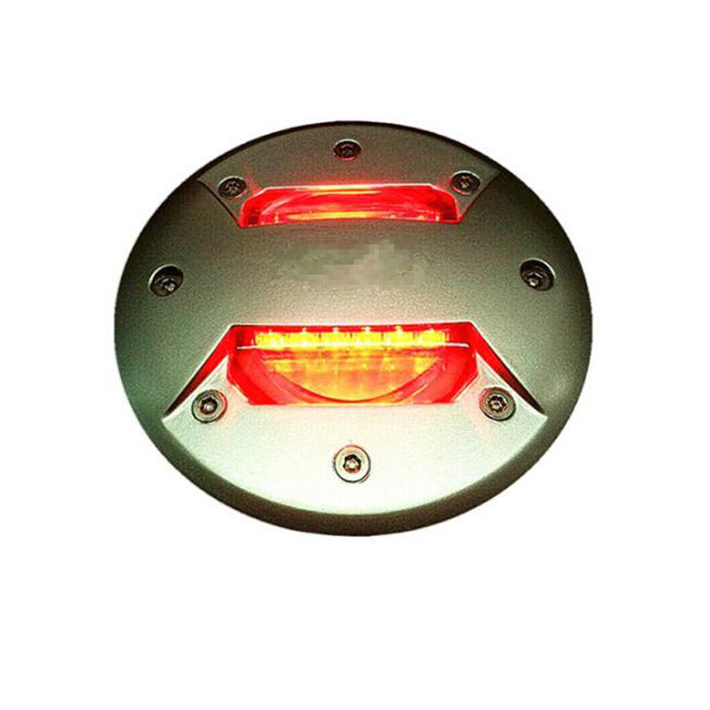 40pcs/pack, 40Tons Load Bearing LED embedded road marker for tunnel, Aluminum LED Road Stud