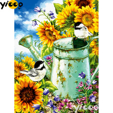 Full Square/Round drill diamond Painting Sunflower Garden 5D DIY diamond embroidery mosaic Decoration painting AX0108 homfun full square round drill 5d diy diamond painting garden