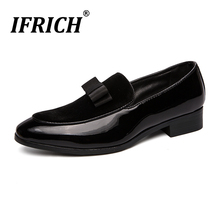 Ifrich Mens Slip On Shoes Casual Black Formal Office Popular Men Luxury Brand Comfortable Dress Wedding