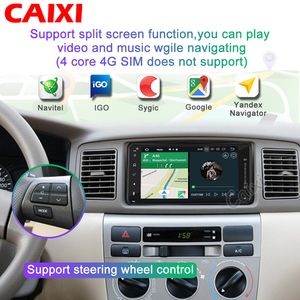 Image 3 - 2din Universal android 9.0 Car Radio Player Stereo Car Multimedia Player  for toyota COROLLA VIOS CROWN CAMRY HIACE PREVIA RAV4