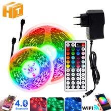 Lumière de bande de LED de rvb 5m 10m 20m 5050 rvb variable DC12V bande de LED Flexible WiFi/Bluetooth/bande de LED de contrôle de musique rvb.