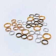200 шт двойные петли открывающиеся кольца для рукоделия ювелирных изделий Аксессуары для рукоделия разъемные кольца Разъемы для изготовления ювелирных изделий