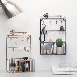 Fixado na parede de correio e chave titular 7 gancho rack organizador bolso e carta classificador para entrada cozinha escritório em casa decoração
