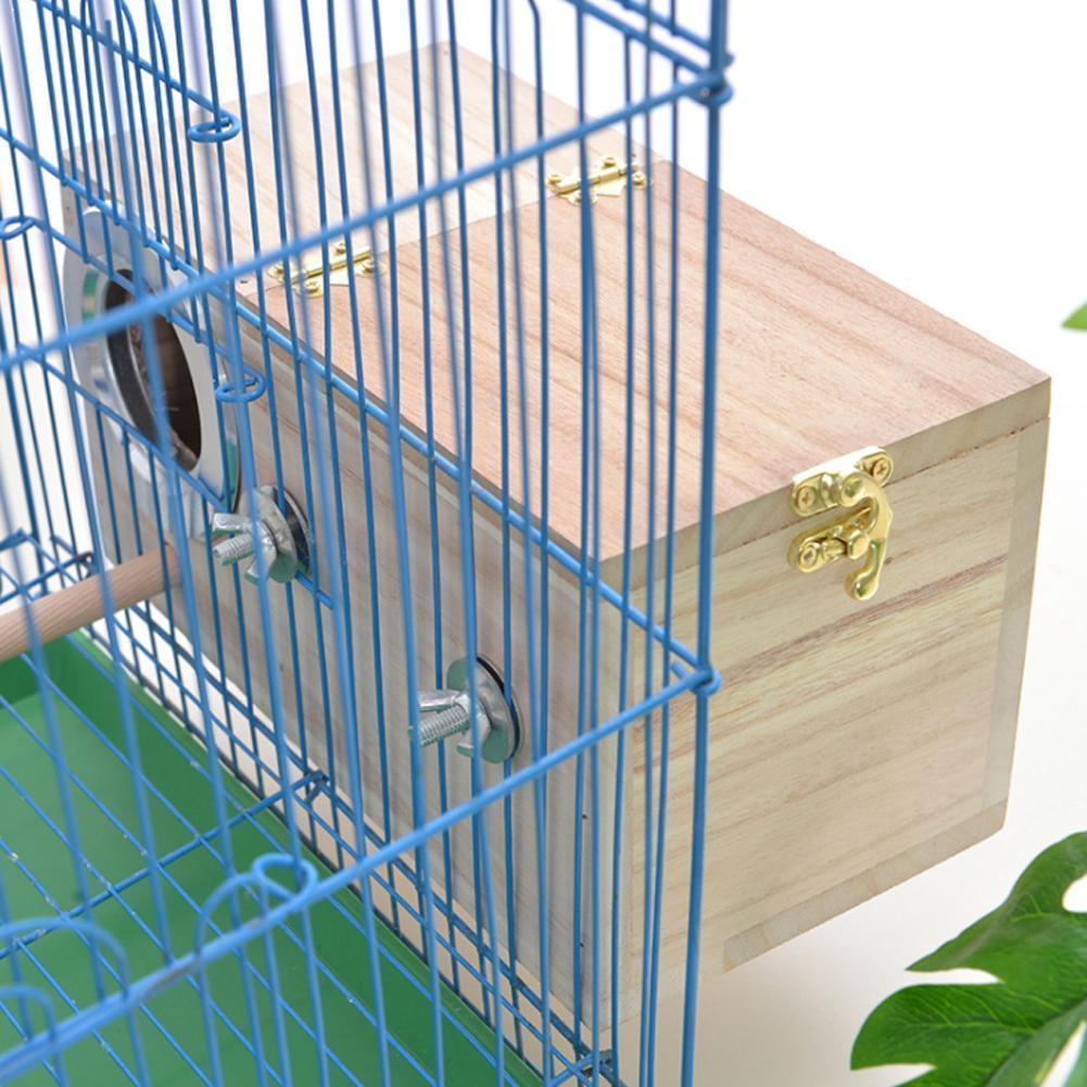 Pet Bird Wooden House Parakeet Nest Box Bird House Box Parrotlets Wood For Lovebirds Breeding Mating Bird Supplies Box