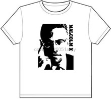 MALCOM X T-SHIRT TEE PICTURE PHOTO nation islam malcolm by any means cool 1248(China)