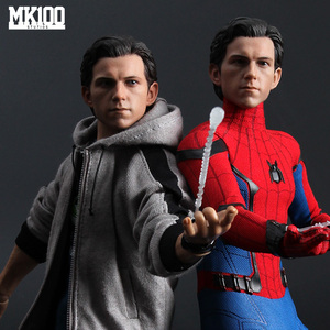 """Image 3 - 1/6 Scale Tom Holland Male Head Sculpt Peter Parker Head Carving  Body For 12"""" DIY Action Figures"""