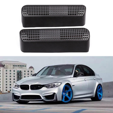 Car Under Rear Seat Air Outlet Cover A/C Heater Floor Air Conditioner  Vent Outlet Cover Sticker For BMW 3 4 Series Grille Frame auto body outlet air conditioner automobile decorative chromium car styling sticker strip 11 12 13 14 15 16 17 for bmw 5 series
