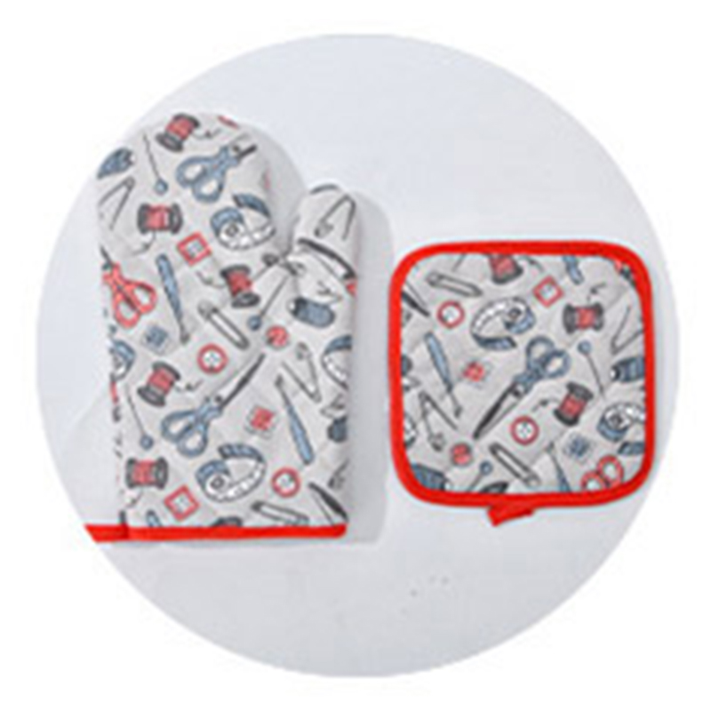 1 шт перчаточный коврик хлопок+ Нетканые термостойкие перчатки с термостойкими накладками Предотвращают появление царапин и пыли