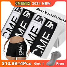 4Pcs CMENIN Sexy Men Underwear Boxer Pure Cotton Print Boxershorts Cueca Male Panties Lingeries Underpants Boxer Shorts CM212