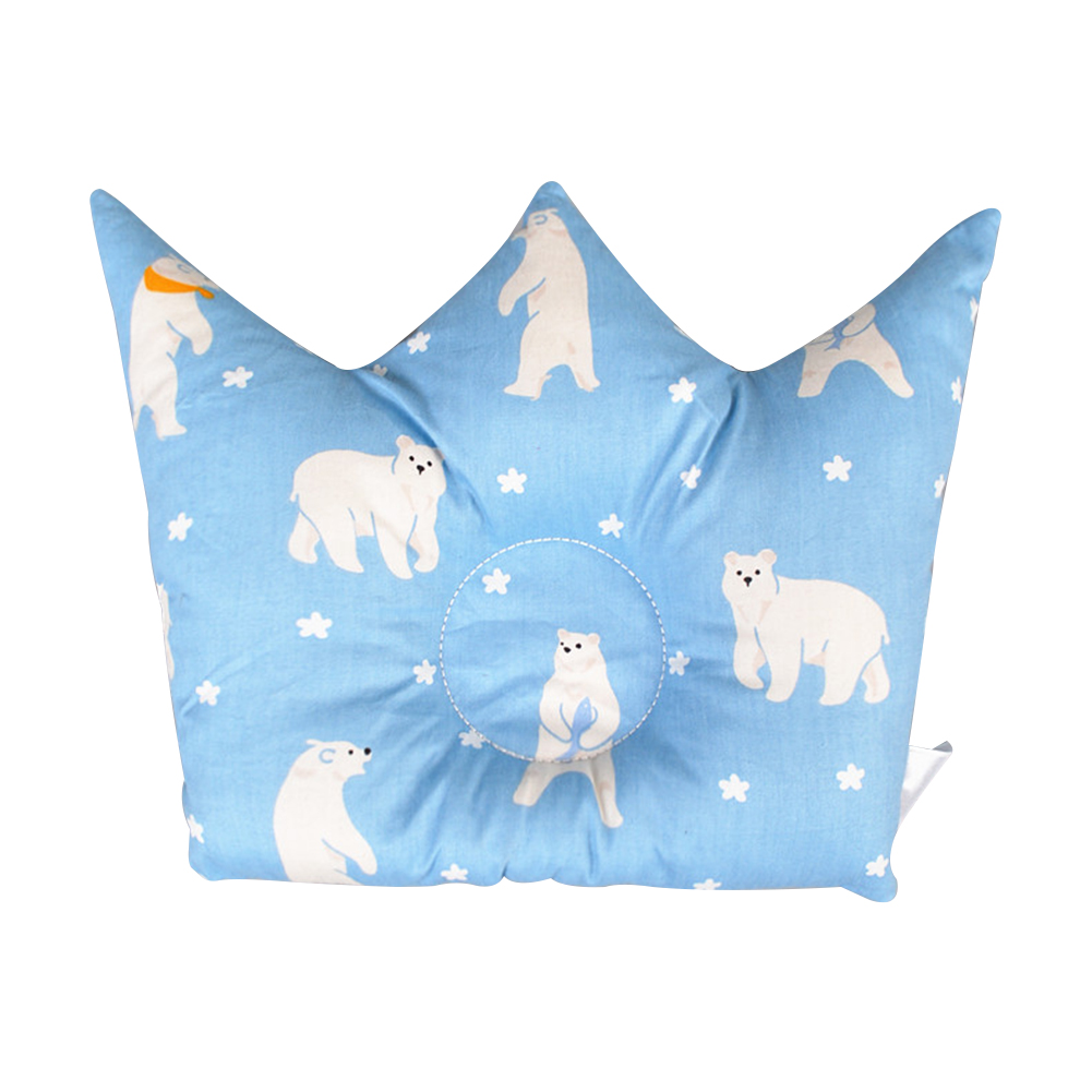 Crown Shape Soft Bedding Sleeping Infant Newborn Baby Pillow Cushion Protective Cartoon Prevent Flat Head Positioning Cute