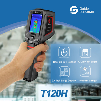 T120H Handheld Infrared Thermography,Fever Screening Thermal Imaging Camera Camcorder Thermometer for Temperature Fast Detection