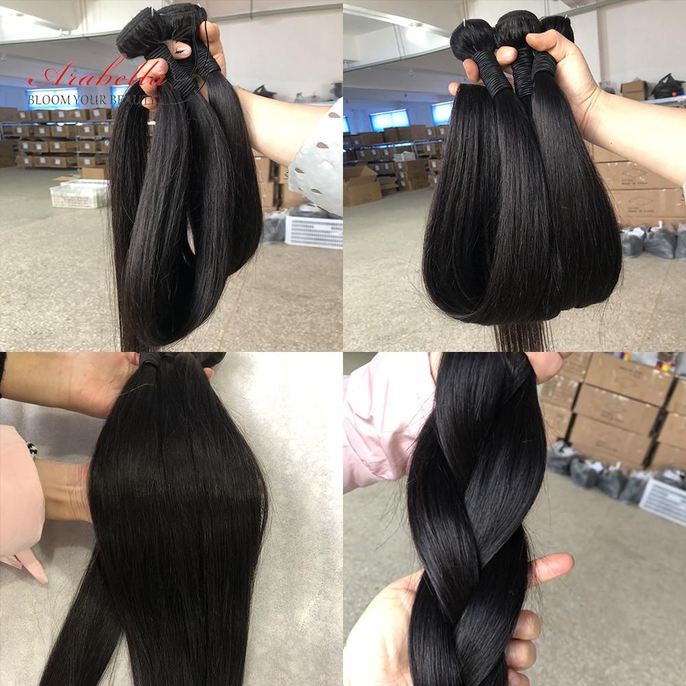 Transparent 4x4 Lace Closure With   Bundles  Straight Hair 3 Bundles With HD Closure Arabella  Hair 5
