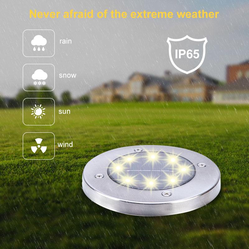 10Pcs LED Solar Power Garden Lights emitting-color: Warm White|White  https://flxicart.com