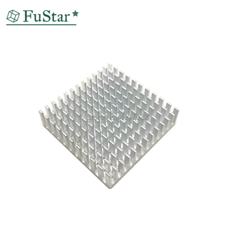 2Pcs Silver 40*40*11 Mm Radiator Aluminum Heatsink Extruded Profile Heat Dissipation For Electronic Whosale&Dropship 40x40x11 Mm
