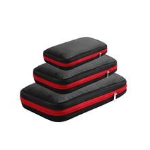 Men Women Black Nylon Travel Bag Waterproof Large Capacity Foldable Travel Bag Organizer Compression Packing Cubes Waterproof