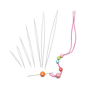 Stal nierdzewna 5 sztuk otwarcie zakrzywione frezowanie igły narzędzia szpilki do koralik gwintowania sznurek łatwe DIY ocena biżuteria Making tanie i dobre opinie CN (pochodzenie) Jewelry Beaded Needle 0inch linki do biżuterii Pins needles TZA013 Metal STAINLESS STEEL