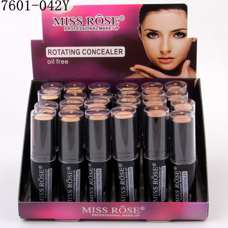 Makeup Rotating Concealer Box Face Base Perfect Covers Concealer Foundation Oil Free Waterproof Matte Wear Concealer Stick - 4