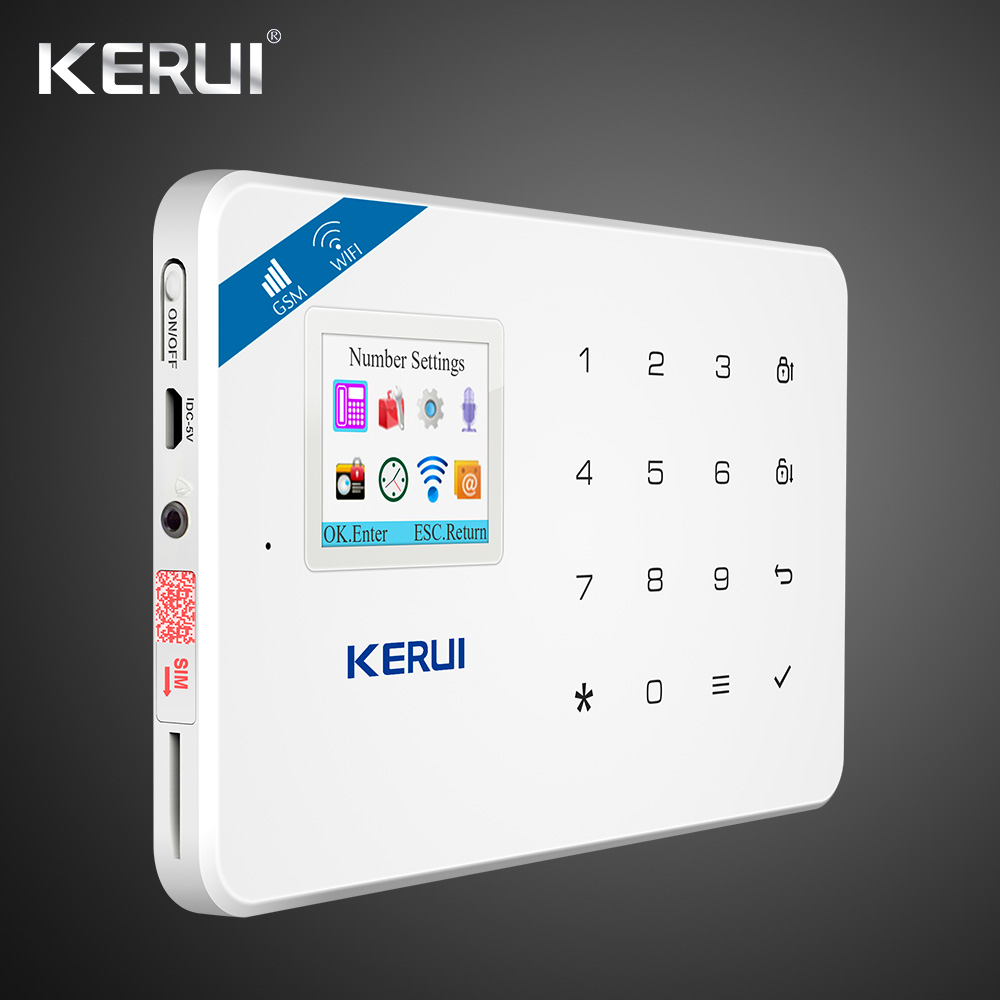Image 4 - Kerui W18 Wireless Wifi Home Alarm GSM IOS Android APP Control LCD GSM SMS Burglar Alarm System For Home Security Alarm-in Alarm System Kits from Security & Protection