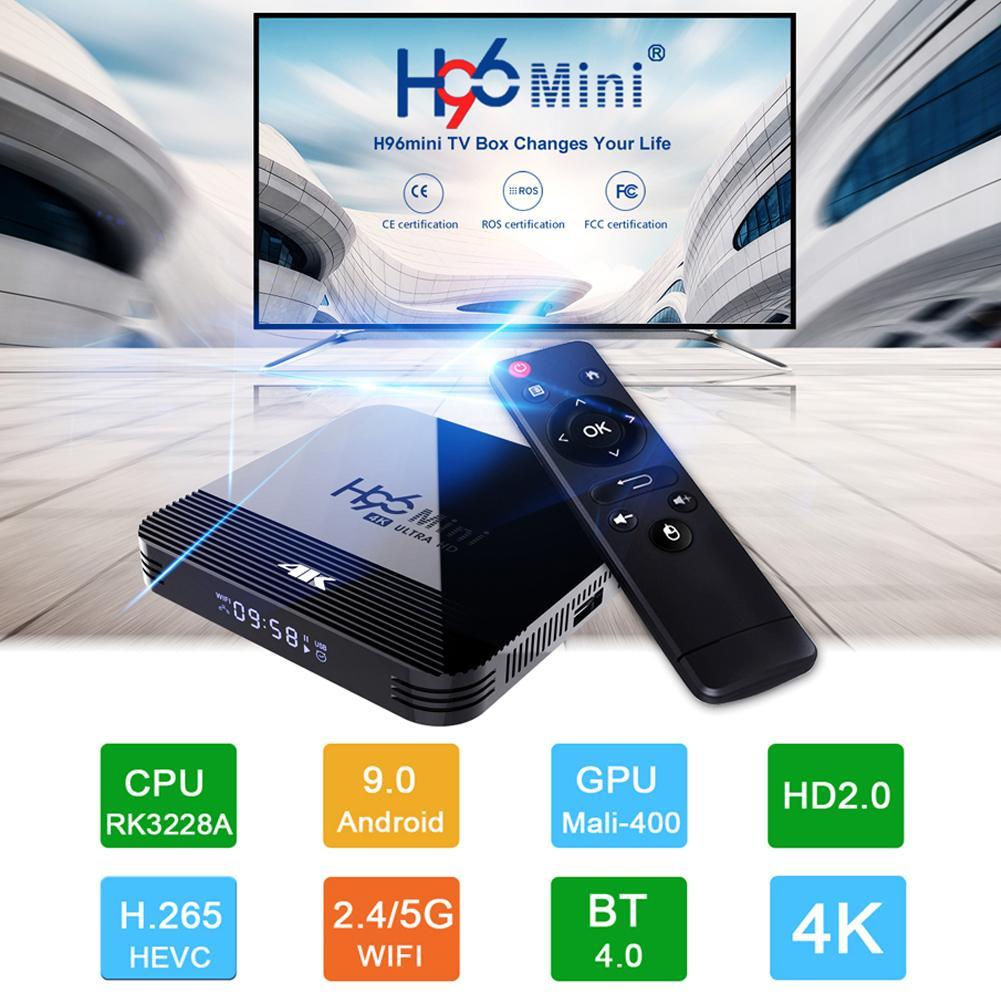 2019 New Smart TV Box Android 9.0 8GB 16GB Media Player 4K TV Box 2.4G/5G WiFi Bluetooth For Netflix Youtube 4K HD Set Top Box