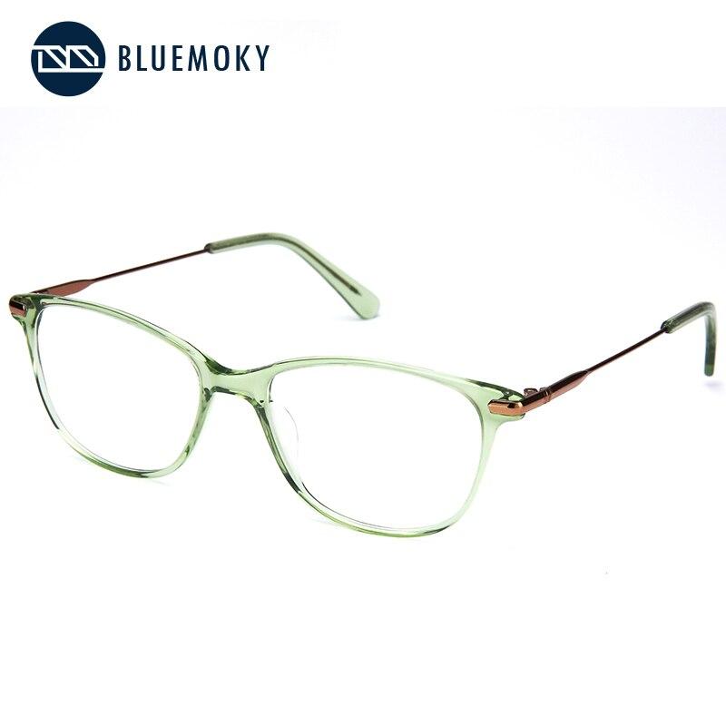 Image 3 - BLUEMOKY Prescription Glasses Frame for Women Optical Myopia Eyewear Eyeglasses Frame Women Clear Lens Rectangular Fake Glasses-in Women's Eyewear Frames from Apparel Accessories