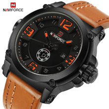 NAVIFORCE Top Luxury Brand Mens Sport Watches Casual Men Quartz Wristwatch Male Date Week Display Waterproof Clock Reloj Hombre naviforce men watch date week sport mens watches top brand luxury military army business leather band quartz male clock