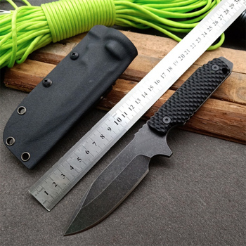 Free shipping Handmade D2 steel Hunting Knife G10 handle Camping Survival Knife Fixed Blade Tactical Knife hx outdoors survival fixed knife bamboo handle camping knife black blade saber tactical tools cold steel hunting straight knife