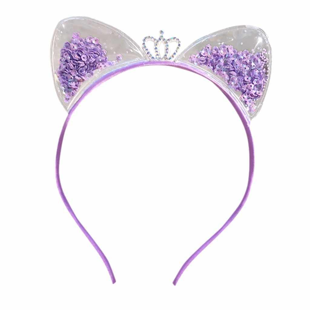 สายรัดศีรษะน่ารักแมวหู Headband ผ้าฝ้ายพลาสติก Headbands อุปกรณ์เสริมผม Headwear แฟชั่นหัวเครื่องประดับ D3