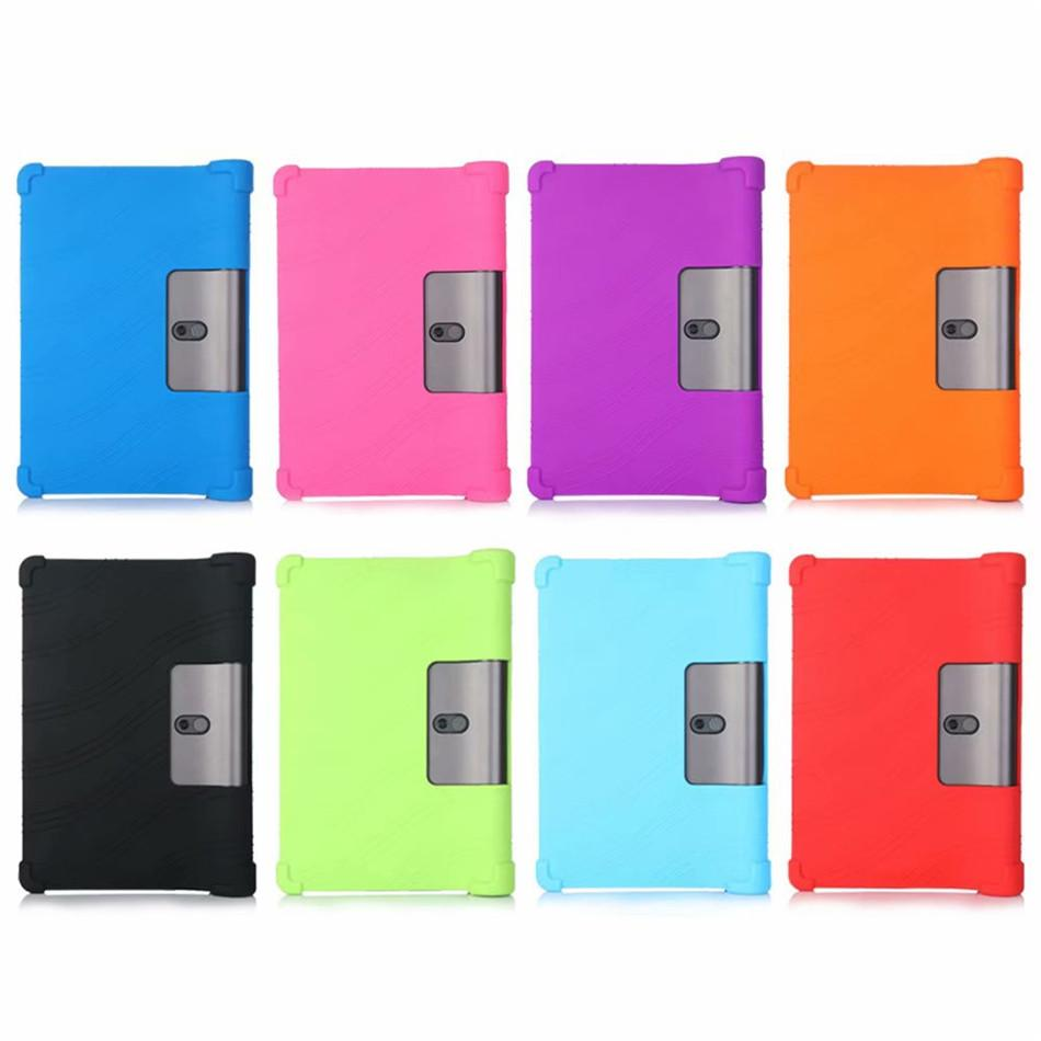 Tablet Case For Lenovo Yoga Tab5 YT-X705F 2019 Tablet Silicon Stand Cover For Lenovo Yoga Tab 5 Shockproof Protective Case Skin