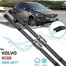 Escovas carro para VOLVO XC60 2009 2010 2011 2012 2013 2014 2015 2016 2017 Montanha XC 60 Limpadores de Párabrisas Acessórios Do Carro