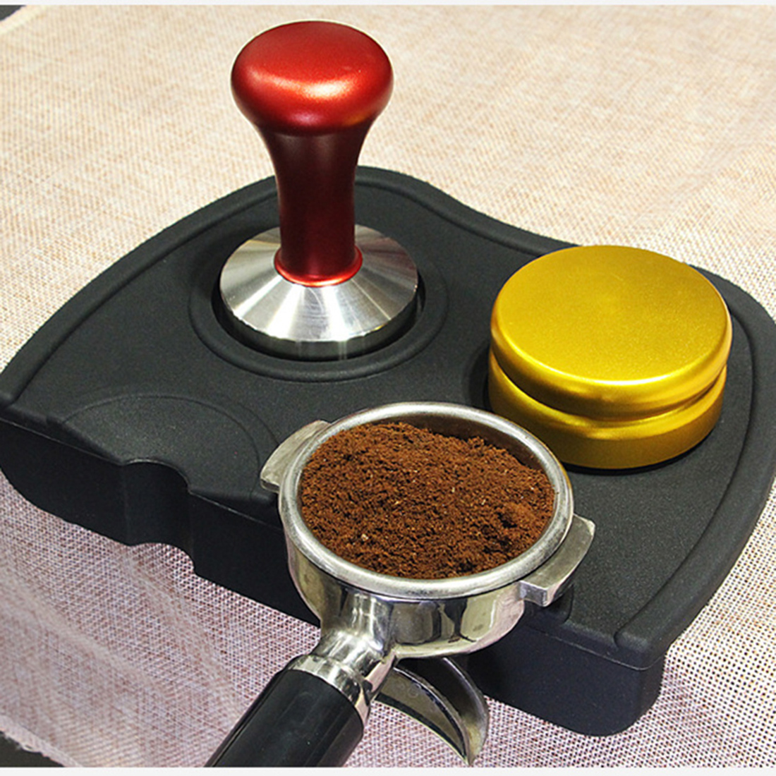 Barista Koffie Anti-Slip Mat Espresso Latte Art Pen Aanstampen Houder Pad Coffeeware Stampers Koffie Grind Zachte Siliconen Mat #6