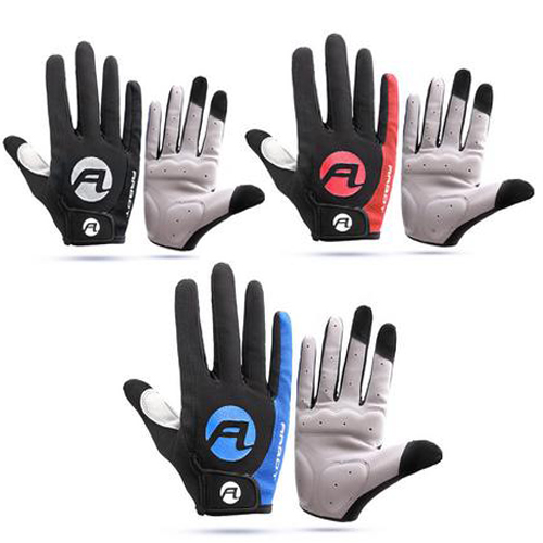 1 Pair Anti-skid Sun-proof Mountain Bike Cycling Running Touch Screen Gloves AU!