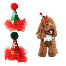 Милый кот собака шляпа для рождественской вечеринки в форме