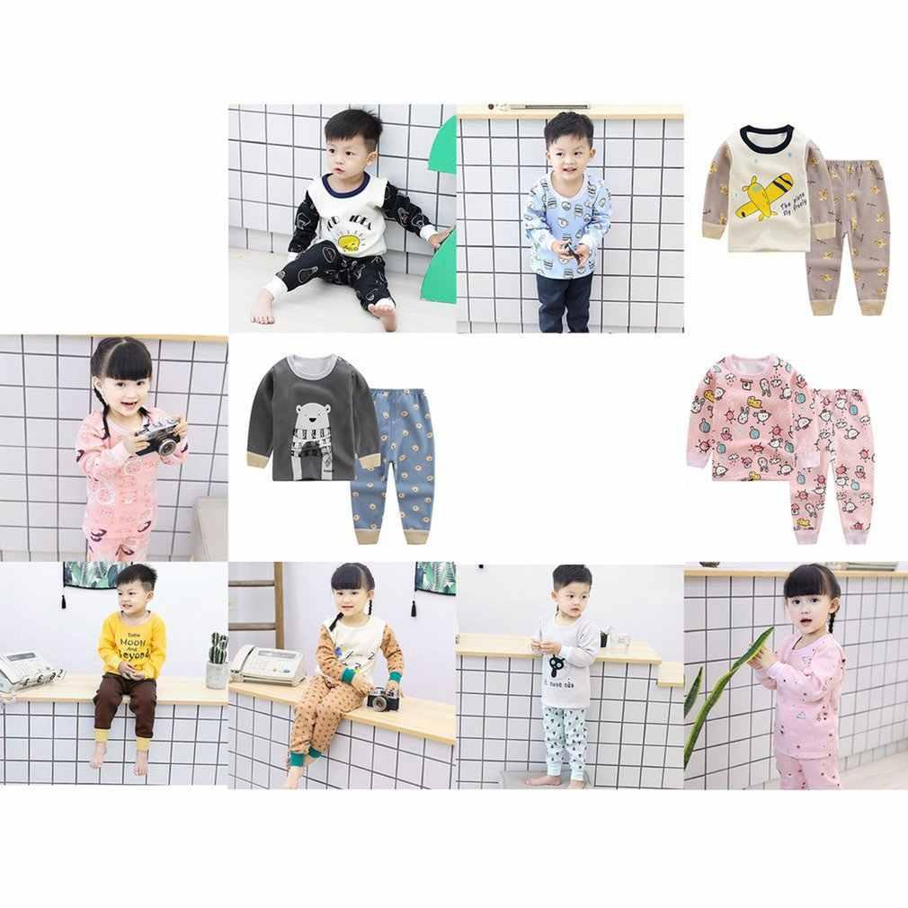 Invierno niños niñas niños moda algodón manga larga ropa de ocio ropa suave para uso diario Casual mantener el traje caliente