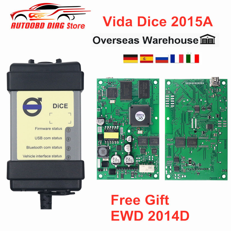 Dice Scanner Car-Diagnostic-Tool Green-Board Volvo for Vida Multi-Language Full-Chip title=