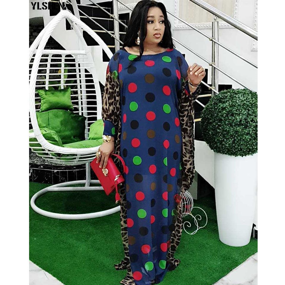 African Dresses For Women Dashiki Summer Plus Size Africa Dress African Clothes Ladies Traditional Boubou Robe Africain