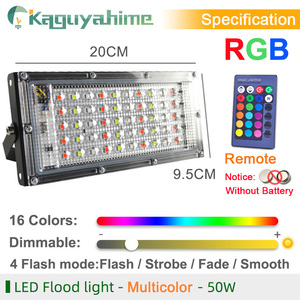 Image 2 - Kaguyahime LED Floodlight 50W 220V Street Lamp Waterproof IP65 Spotlight Reflector focus LED Light Outdoor Cold White Spot Light
