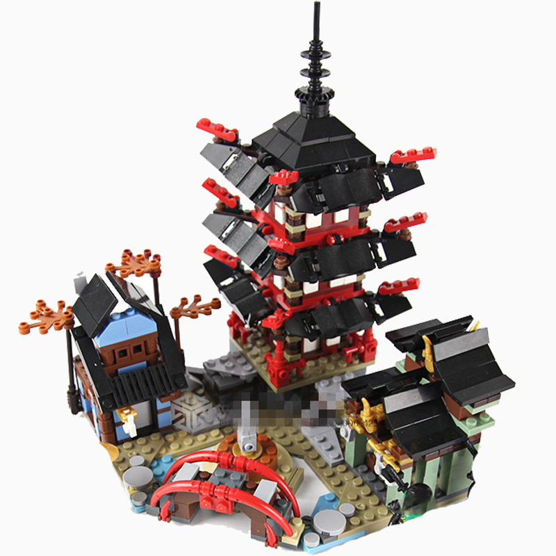 Diy Ninja Temple Of Airjitzu 737pcs Smaller Version Building Blocks Set Compatible With Lepining Toy For Kids Bricks