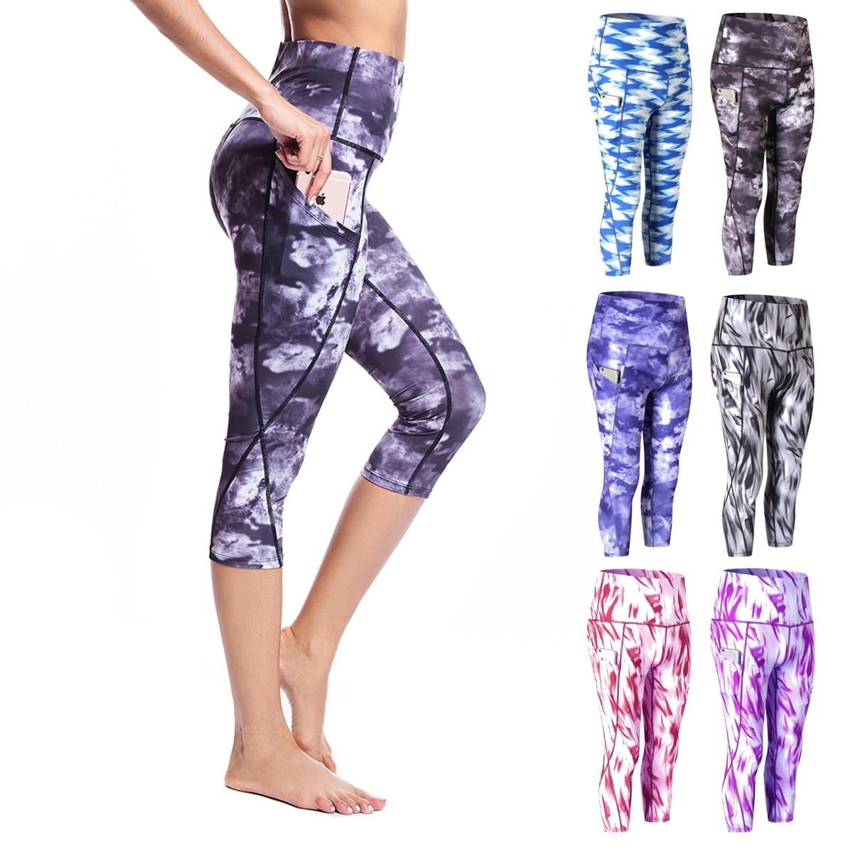 Yoga Tights Woman Sports Fitness Yoga Pants Workout Gym Leggings Sport Women Fitness Seamless Sport Leggings Capris 3/4 Pants