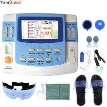 العلاج الطبيعي المتكامل مع الموجات فوق الصوتية عشرات و Ems معدات العلاج الطبيعي 7 قنوات مع وظيفة الليزر والنوم
