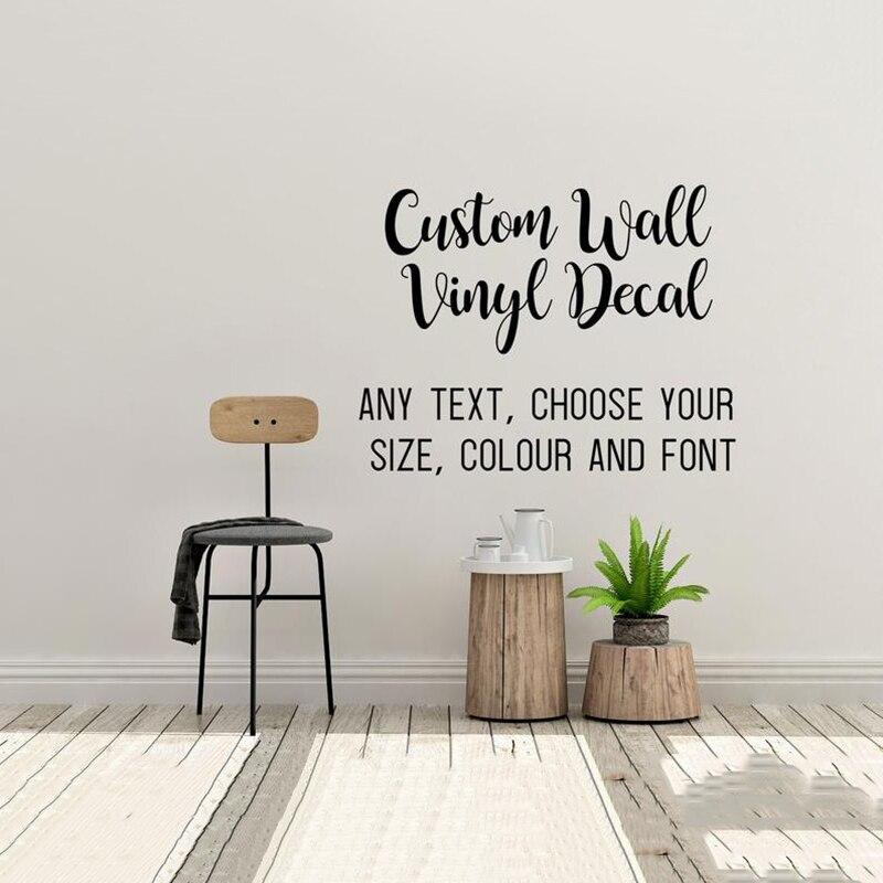 Design seu próprio decalque de parede personalizado decoração da parede do berçário crianças quarto adesivo auto adesivo vinil citações personalizadas decalque design cn