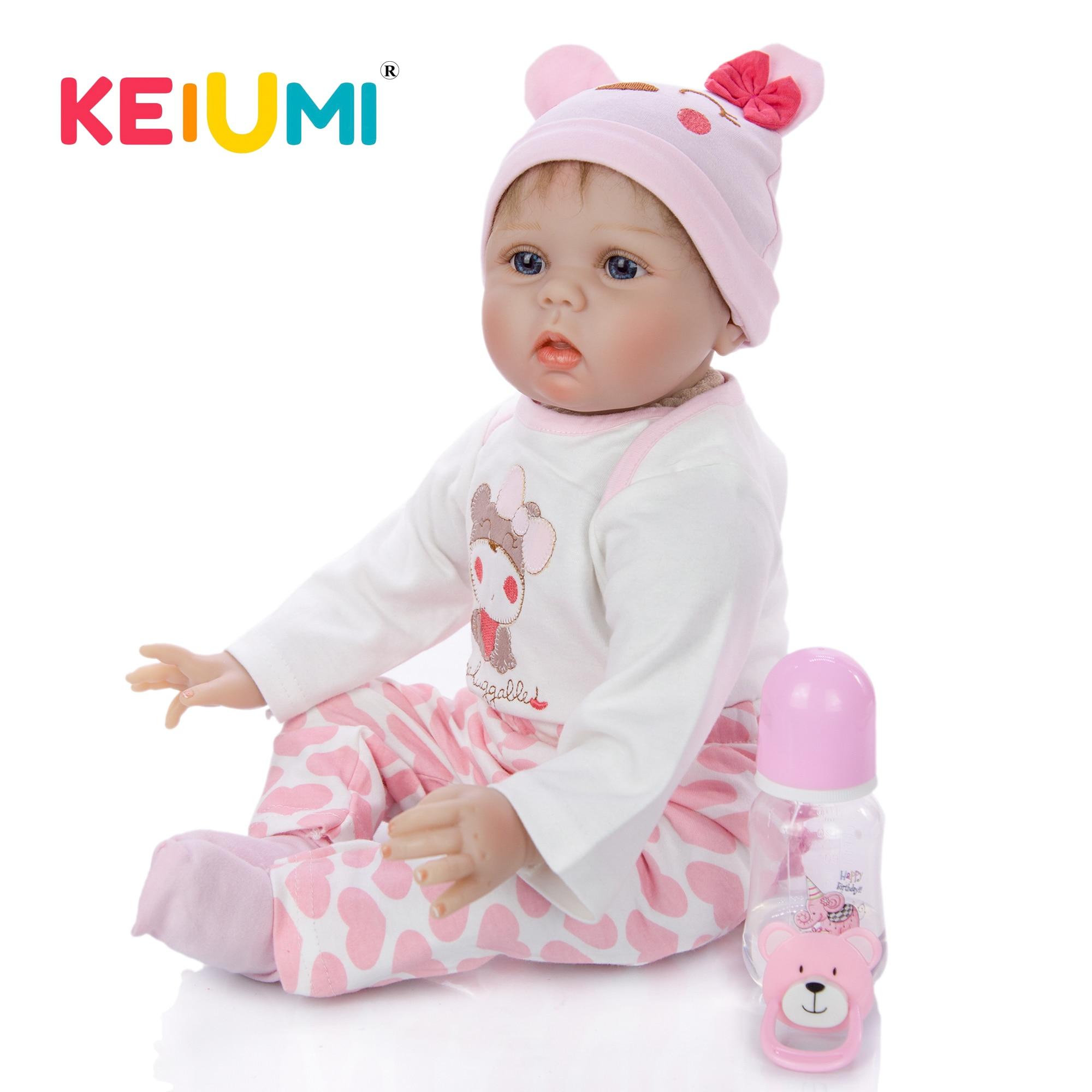 Oyuncaklar ve Hobi Ürünleri'ten Bebekler'de KEIUMI Gerçekçi 22 ''Reborn Bebekler 55 cm Yumuşak Silikon Yeniden Doğmuş Bebek Vinil Doldurulmuş Bebek Kız Doğum Günü Noel Hediyesi'da  Grup 1