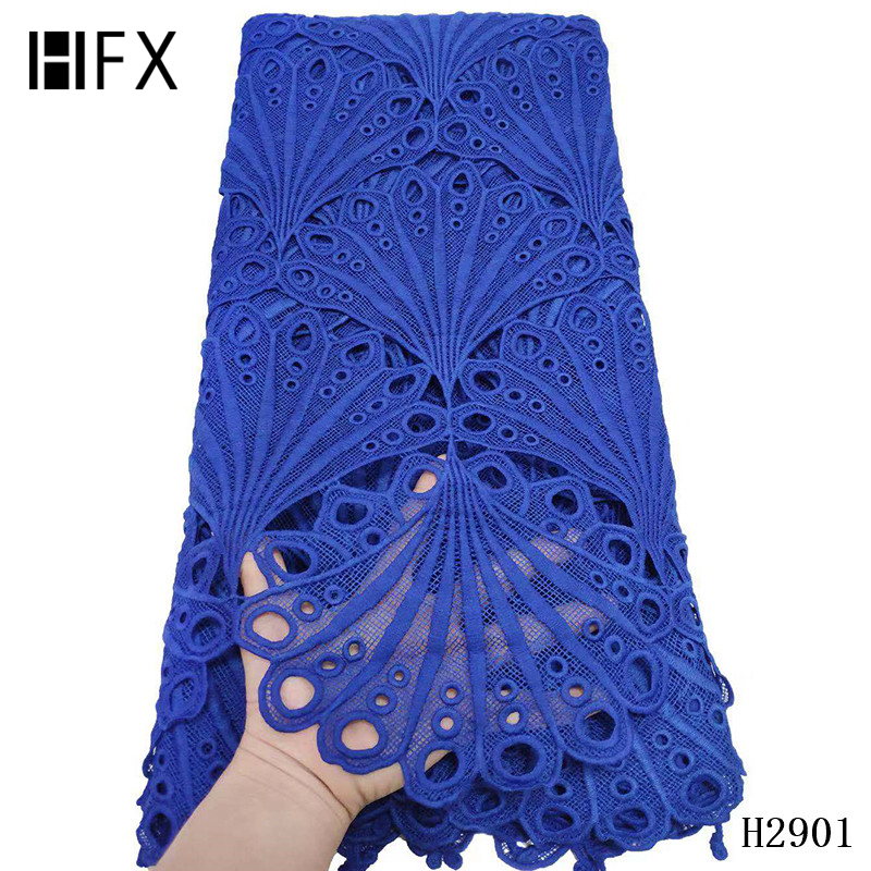 Image 3 - HFX 2019 latest african guipure lace white water soluble chemical lace fabric,high quality african cord lace free shipping H2311-in Lace from Home & Garden