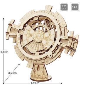 Image 3 - Robotime ROKR wieczny kalendarz 3D Puzzle drewniane zabawki montaż Model zestaw do budowania zabawki dla dzieci LK201 Drop Shipping