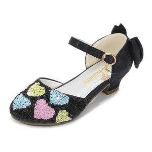 Обувь для девочек на высоком каблуке, обувь принцессы 2020, летние детские сандалии, детская обувь, обувь с кристаллами для маленькой девочки, ...