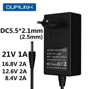 12.6V 16.8V 21V 8.4V 2A Lithium Batterij Oplader Dc 5.5*2.1Mm 18650 Batterij Oplader polymeer Hand Boor Batterij Charger Hand Boor